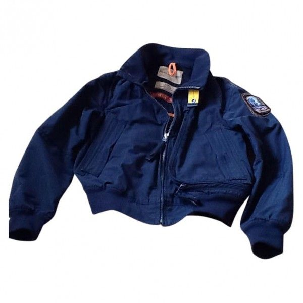 Pilot Jacket PARAJUMPERS (£115) ❤ liked on Polyvore featuring outerwear, jackets, tops, coats, blue jackets, parajumper jacket, cotton jacket, parajumpers and blue cotton jacket