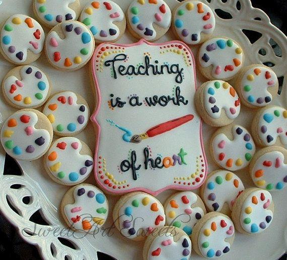 Teacher cookies  art teacher cookies  teacher by SweetArtSweets, $18.00
