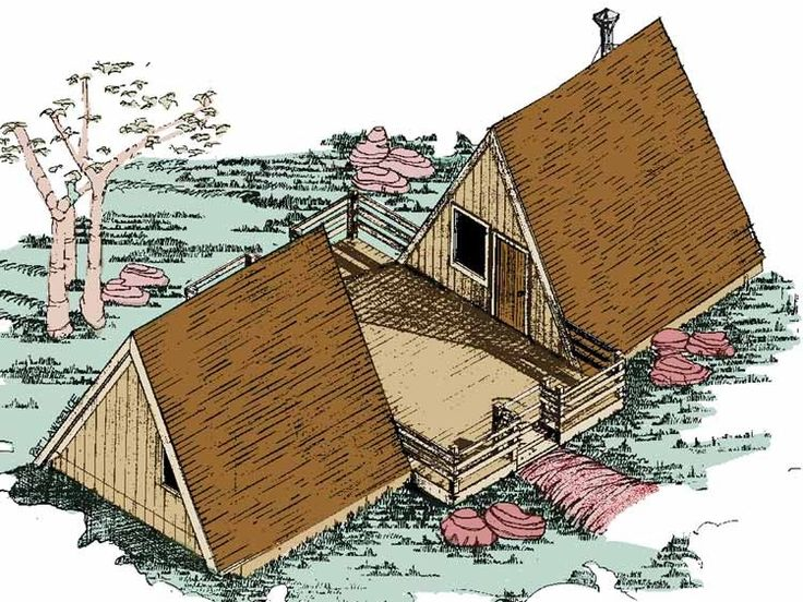delightful a frame blueprints #10: Eplans A-Frame House Plan - One Bedroom A-Frame - 576 Square Feet
