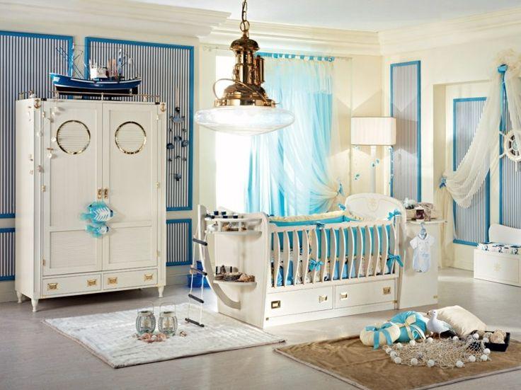 Nautisches Babyzimmer einrichten mit traumhaften Möbeln