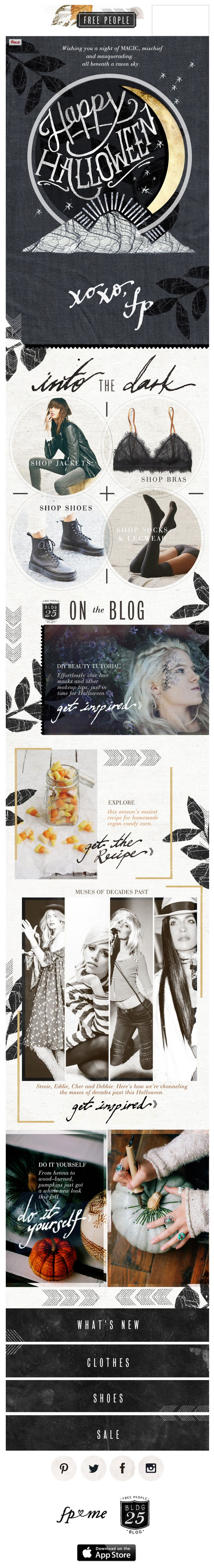 Free People Halloween email 2014
