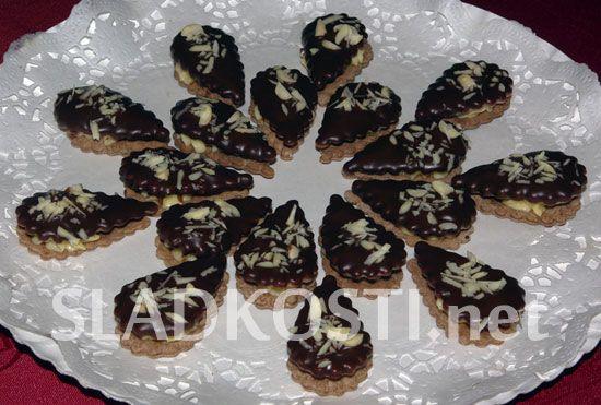 Kakaové slzičky s vanilkovým krémem dia