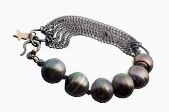 Milas Jewellery  #tahitiperler #pearls Rock `n Roll #bracelet #tahitianpearls