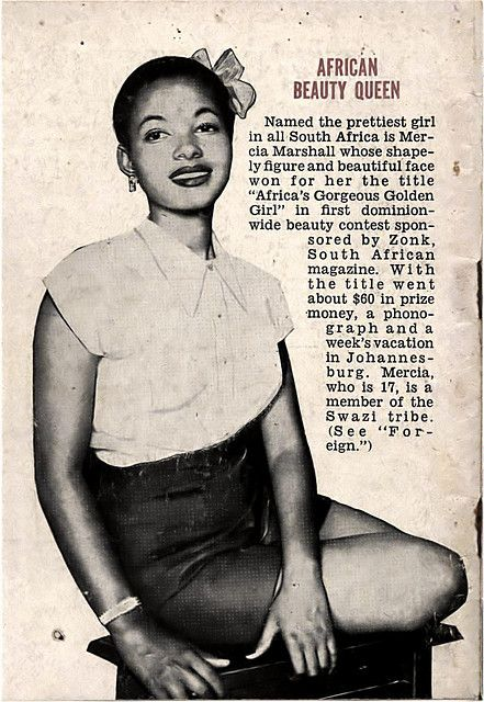South African Beauty Queen Mercia Marshall - Jet Magazine April 24, 1952