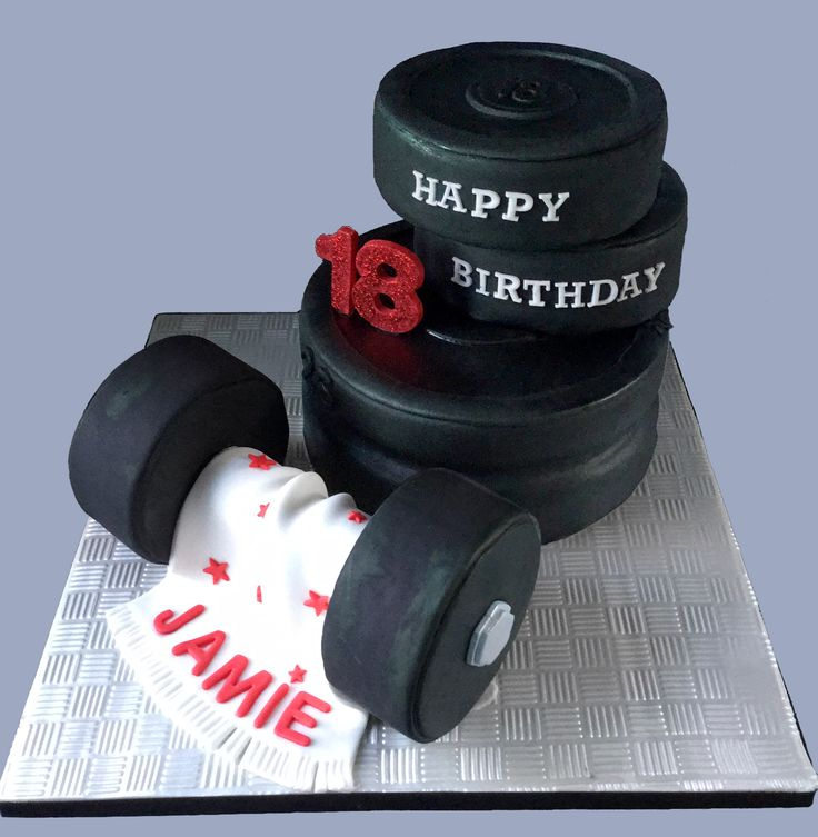 How To Make A Dumbbell Birthday Cake