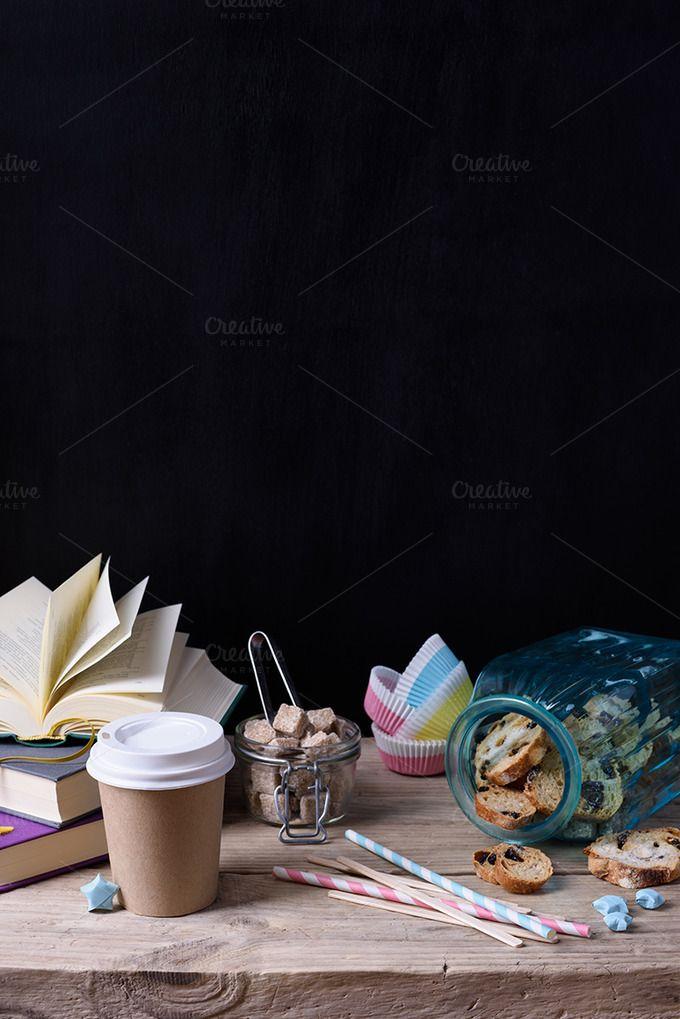 Coffee to go with cookies by Iuliia Leonova on @creativemarket