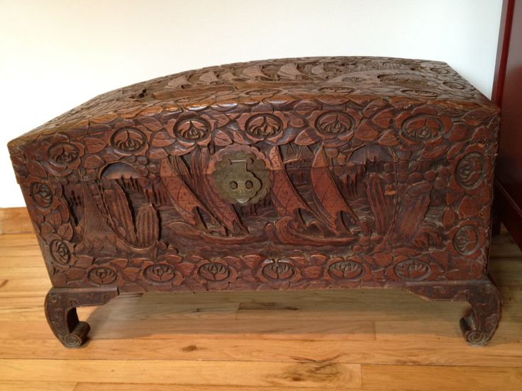 Old Carved Chinese Camphor Chest... one of my favorites ...