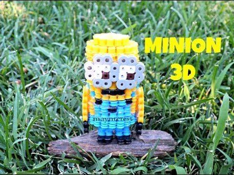 Manualidades: MINION 3D de perler beads (hama beads)