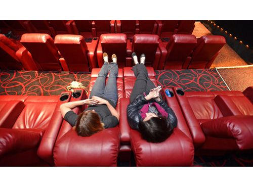 The Country's Coolest Movie Theaters- AMC Loews at West 84th Street This Manhattan theater recently underwent extensive renovations and now features extra-cushy red leather reclining love seats that you can reserve in advance. Though the recliners are obviously great for canoodling, they're also useful should you want to sneak in a little shut-eye during hour two of The Wolf of Wall Street.