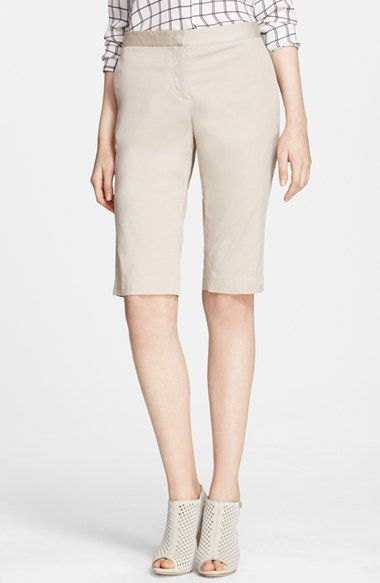 Theory 'Jitney' Twill Bermuda Shorts available at #Nordstrom