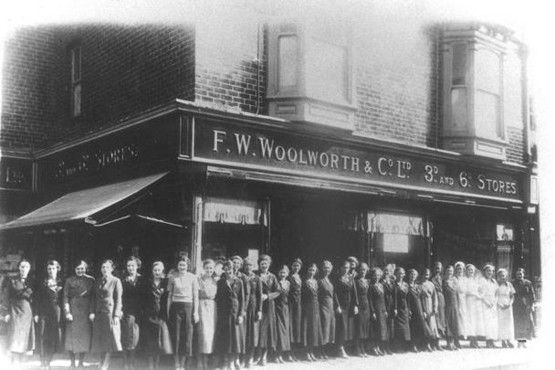 This amazing picture from our archive shows staff outside the first Woolworth store in Scunthorpe
