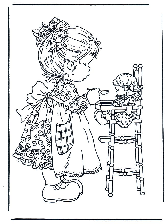 Play with doll coloring page. This website has many fabulous coloring pages to print.