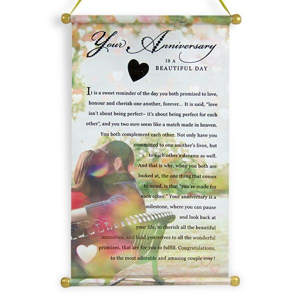 Scroll On Your Anniversary Your wishes for a lovely couple on their anniversary are really important. Convey them with this stylish and meaningful scroll and treasure your wishes forever. :Height : 43 cm X Length : 26.5 cm | Rs. 179 | Shop Now | https://hallmarkcards.co.in/collections/anniversary/products/scroll-on-your-anniversary