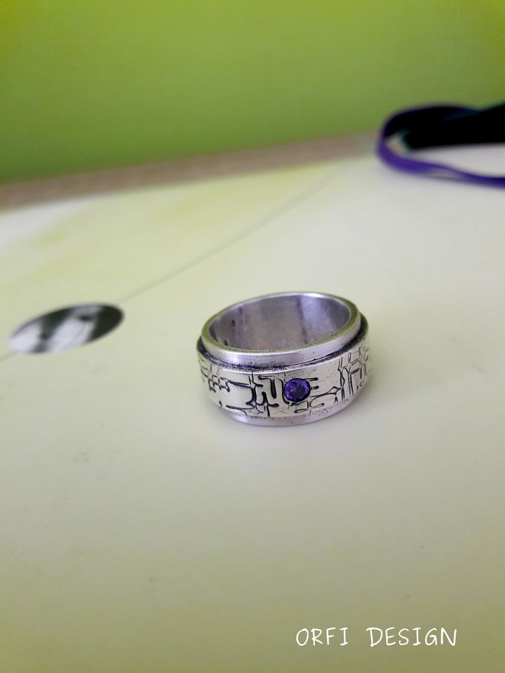 Silver clay wide band ring...