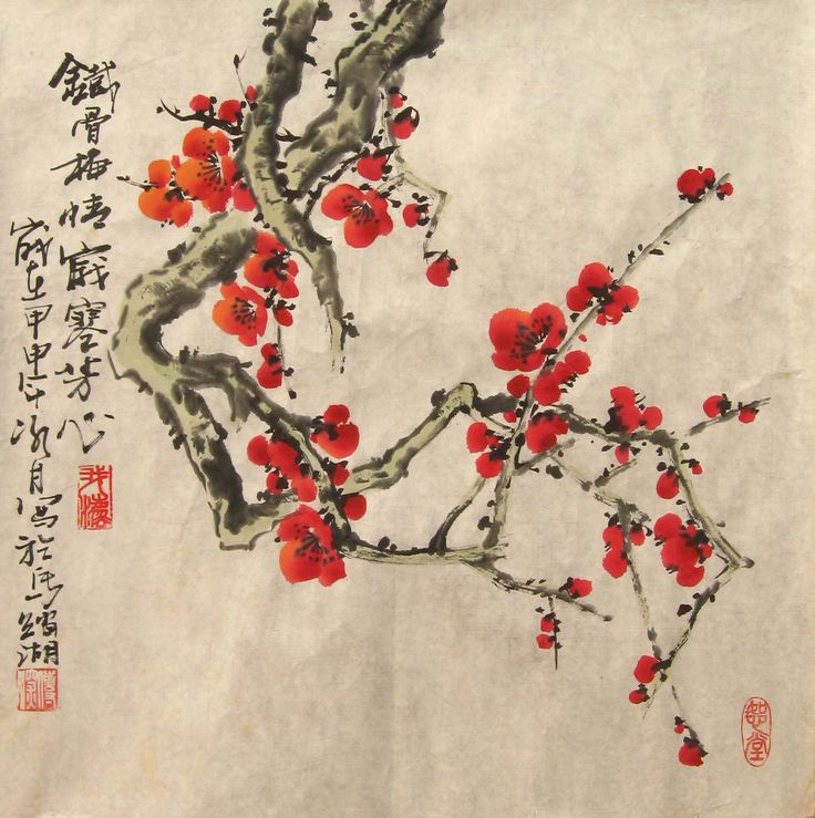 Traditional Chinese painting Chinese bird-flower- painting Slight freehand style