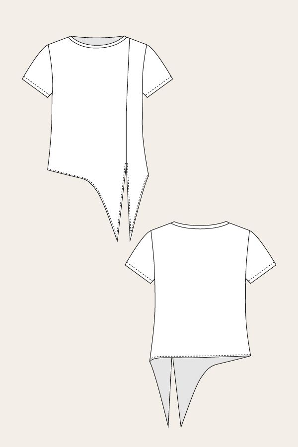 Named Patterns tie t-shirt 2