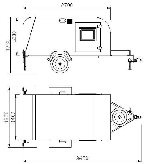 Mini trailer Traveller, Little Traveller, Cargo Traveller. Calços de roda e limitadores de estacionamento ou vaga. Rachadores de lenha.
