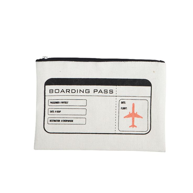 Boarding Pass Toalettmappe, 21x15cm, House Doctor