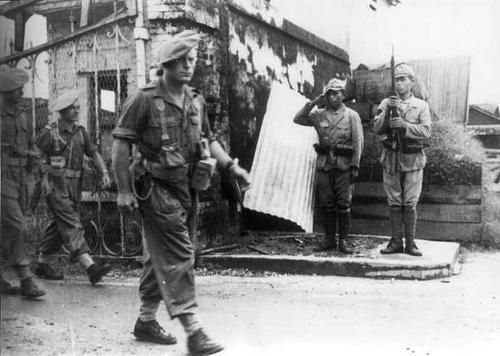 French commandos in Dutch East Indies, 1945