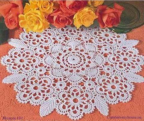 салфетка с цветочными мотивами