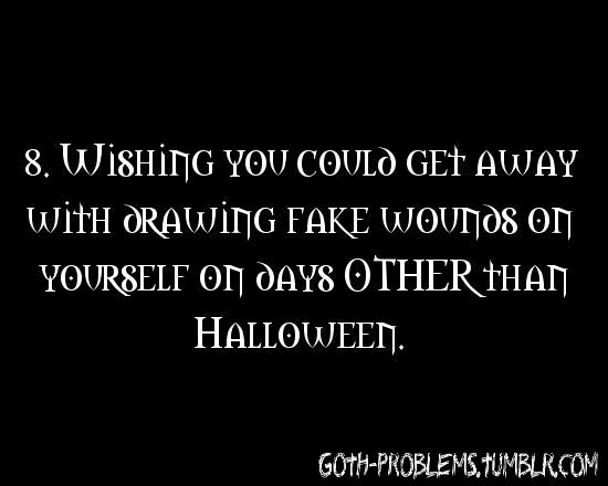 goth problem #8Åbøüt Mē, Good Things, Goth Problems