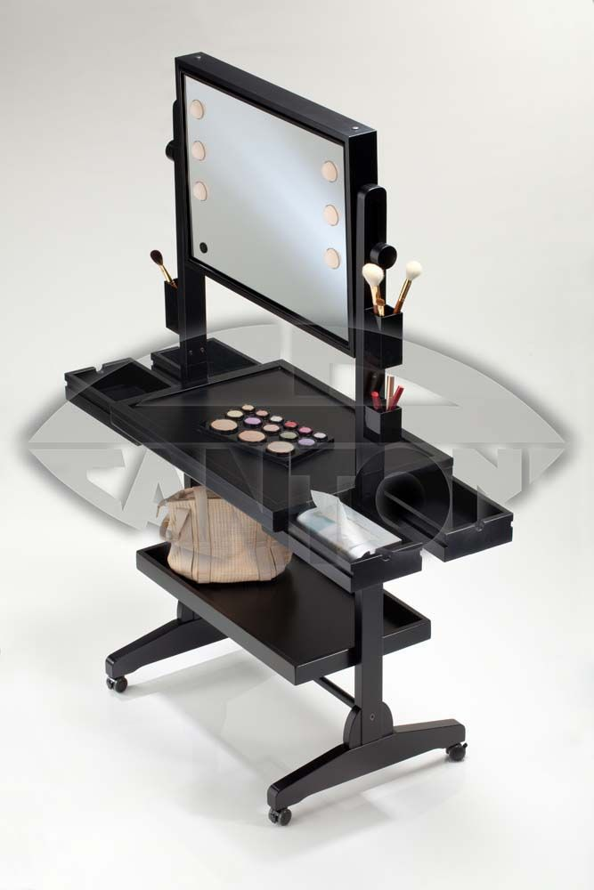 MAKE UP STATION ON WHEELS, with drawers and shelves