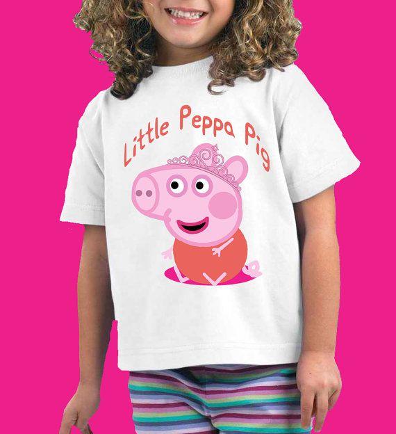 Peppa Pig Shirt Little peppa Pig Shirt Peppa Pig by ApparelAreUs