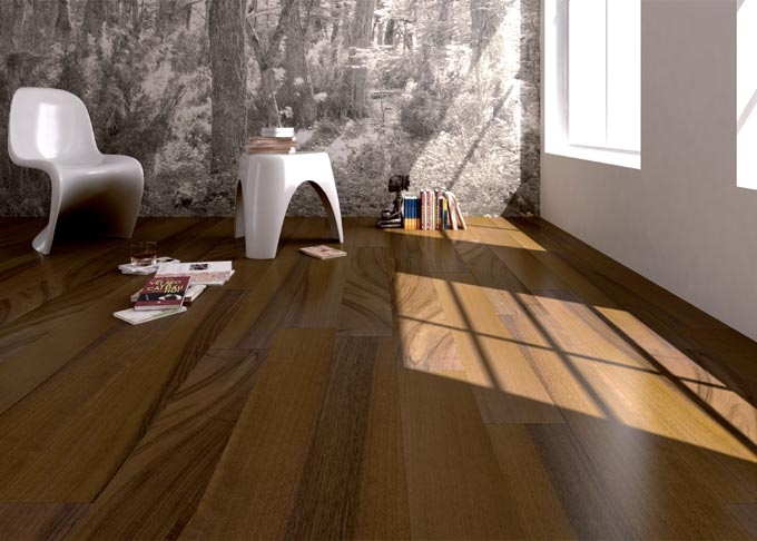Pavimenti prefiniti in legno oasi - tavolato noce nazionale, verniciato.