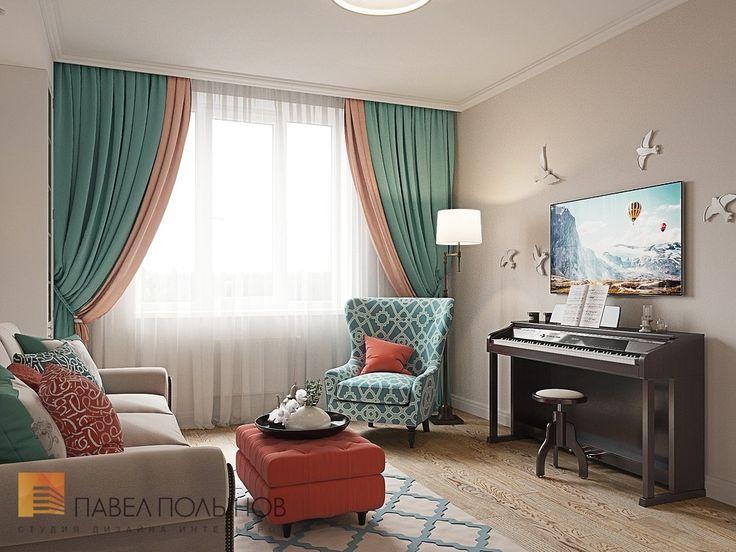 Фото: Дизайн гостиная - Интерьер квартиры в стиле легкой классики, ЖК «Академ-Парк», 68 кв.м.