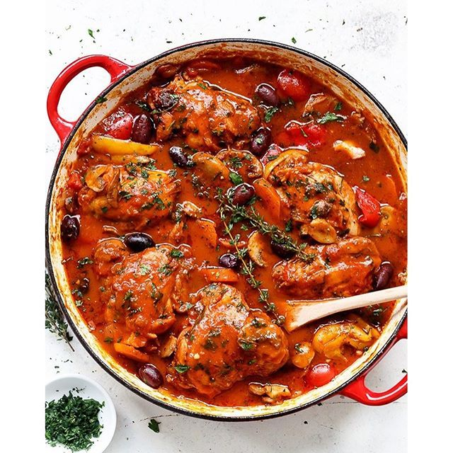Stove Top, Oven Or Slow Cooker Chicken Cacciatore