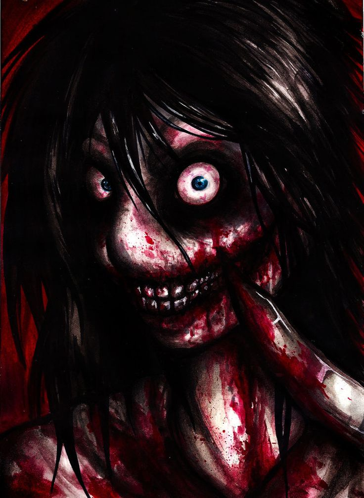 """This is the kind of fanart I like. Not """"hot"""" or """"sexy"""" but gory and fooffed up stuff."""