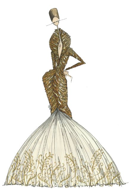 Fashion Illustrations By Alexander Mcqueen