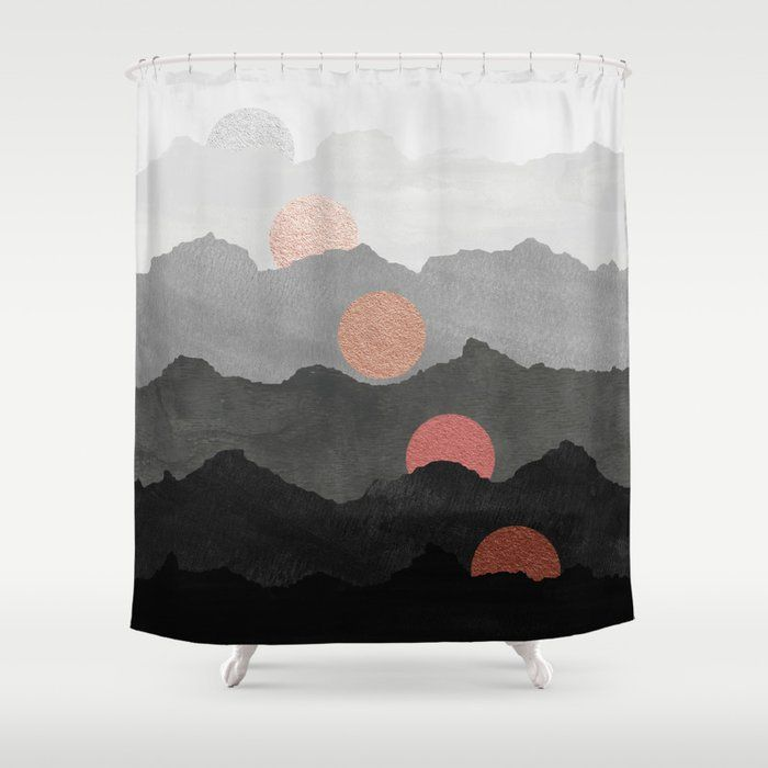 Mountains And The Moon Black Silver Copper Gold Rose