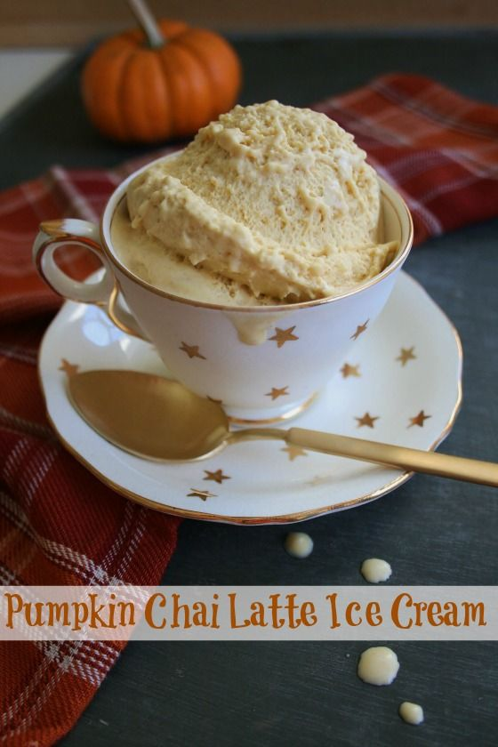 Pumpkin Chai Latte Ice Cream - oh, my goodness. This would be amazing for serving pumpkin or pecan pie a la mode!