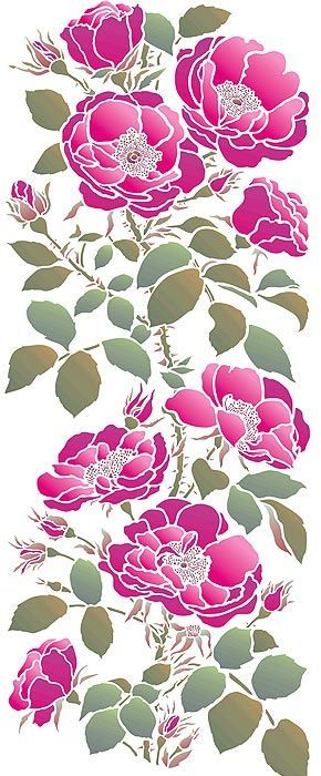 Rose Stencil Large Rose Stencil Flower Stencil Wild Rose Stencil