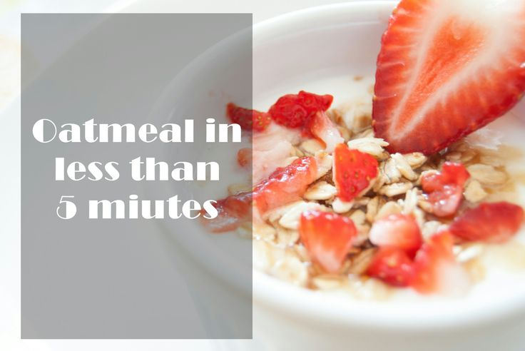 Oatmeal in less than 5 min. Papas de aveia em 5 minutos
