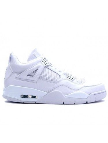 Nike Air Jordan 4 Retro all white Pure- 25th Anniversary Shoes