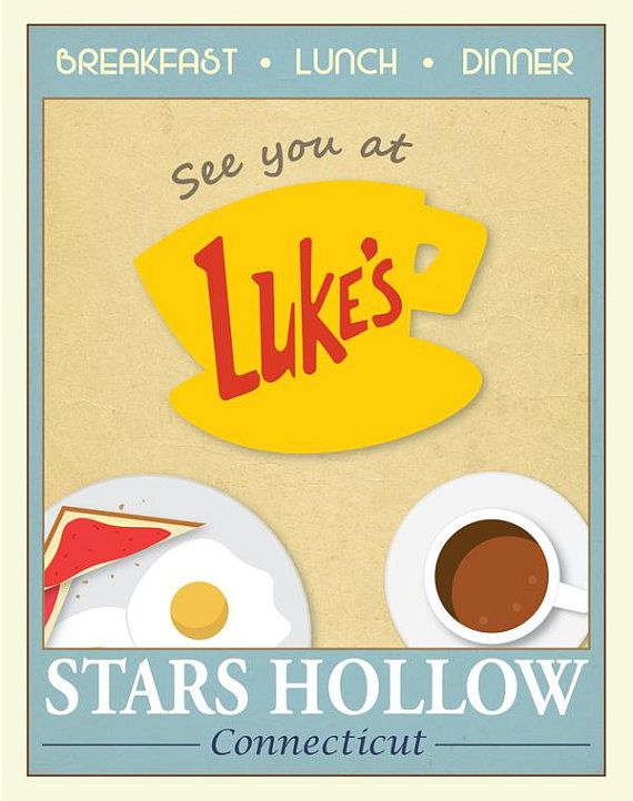 Gilmore Girls Friends But first coffee poster Central Perk Luke/'s Diner