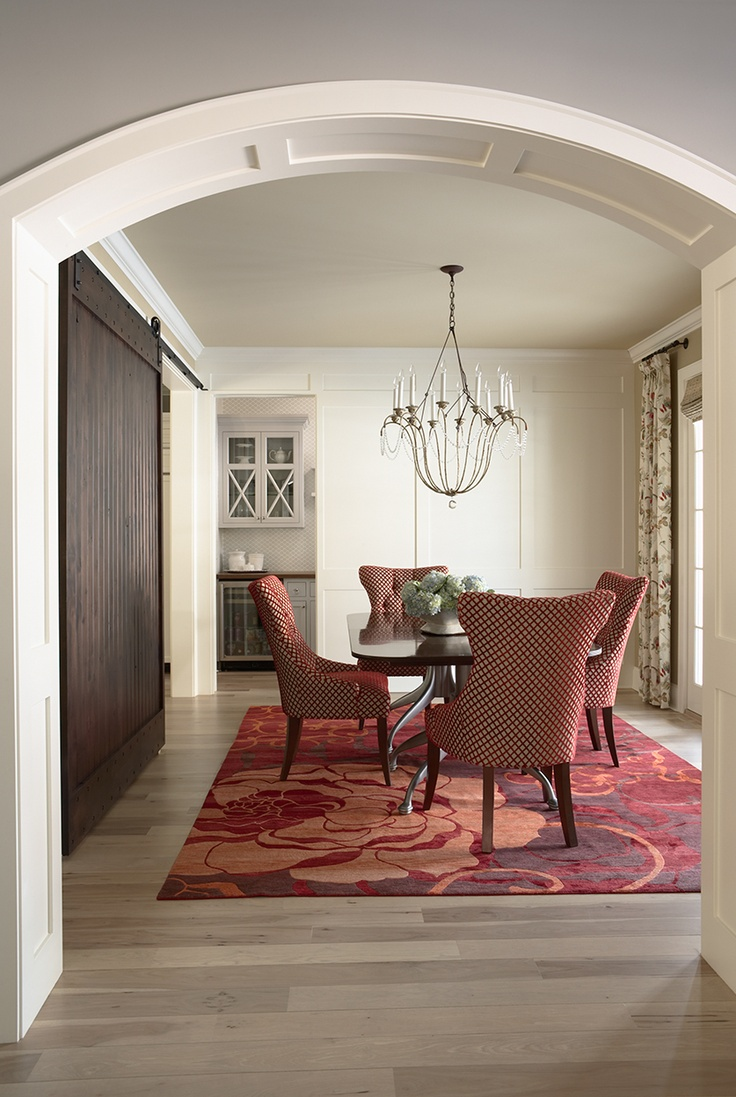 Dining room with a glimpse into the Butler's pantry.Martha O' Hara, Dining Room, O 'Hara Interiors, Design Interiors, Architecture Interiors, House Interiors, Interiors Design, Barns Doors, Bridges Street