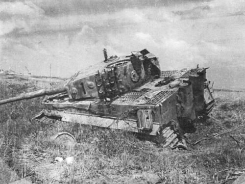 An early example of a Tiger Tank (note : pistol port on Turret )Defeated on the way to the Battle of Cisterna (a German victory) ---- Anzio Beach head ,Italy. 01.20 .1944-02.02.1944