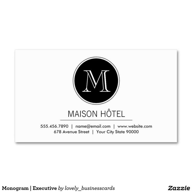 36 best Monogram Business Cards images on Pinterest | Monogram ...