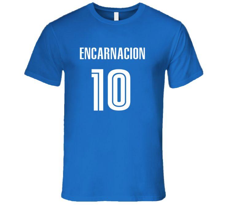 Edwin Encarnacion Toronto Baseball Number 10 Jersey Style T Shirt