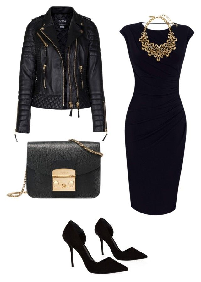 """Party outfit"" by m-i-r-v-a-k on Polyvore featuring Oasis, KG Kurt Geiger, Furla and Oscar de la Renta"