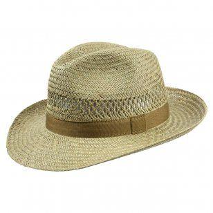 Classic Straw Bogart Hat