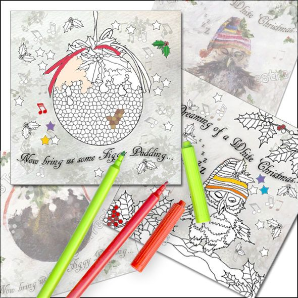 COLOURING IN LUXURY CHRISTMAS CARD PACKS FOR ADULTS X 2 TOP QUALITY ART RELAXING