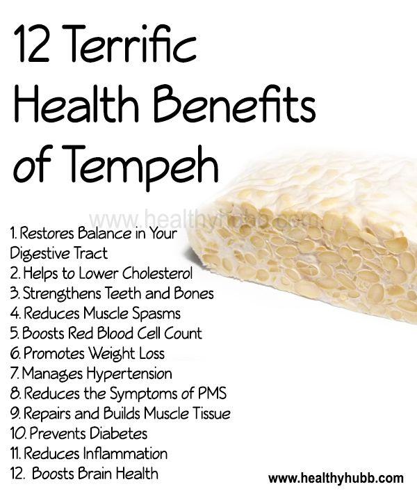 12 Terrific Health Benefits of Tempeh!