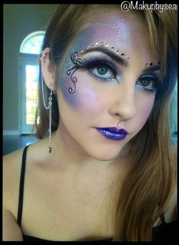 Fairy Halloween makeup. Colors can be changed to fit any costume