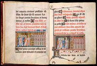 The Metz Pontifical: An Unfinished Medieval Masterpiece Circa 1303 – 1316, an illuminated manuscript produced for Renaut de Bar, Bishop of Metz (1303-1316), and preserved at the Fitzwilliam Museum, Cambridge, has the added virtue, from the standpoint of historical research, of being unfinished. Its manner of production is shown in an interesting flash animation on the Fitzwilliam website.