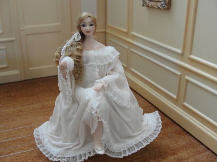 Dorothy Haw, Abigal's Fantasy, IGMA fellow  - porcelain woman wearing fancy night gown; sold on ebay for $153.49
