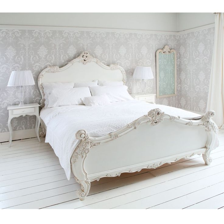 NEW! Provencal Sassy White French Bed|French Beds|Beds & Mattresses|French Bedroom Company